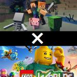 LEGOワールドとマインクラフトの大きな違いを紹介!ついでにドラクエビルダーズも